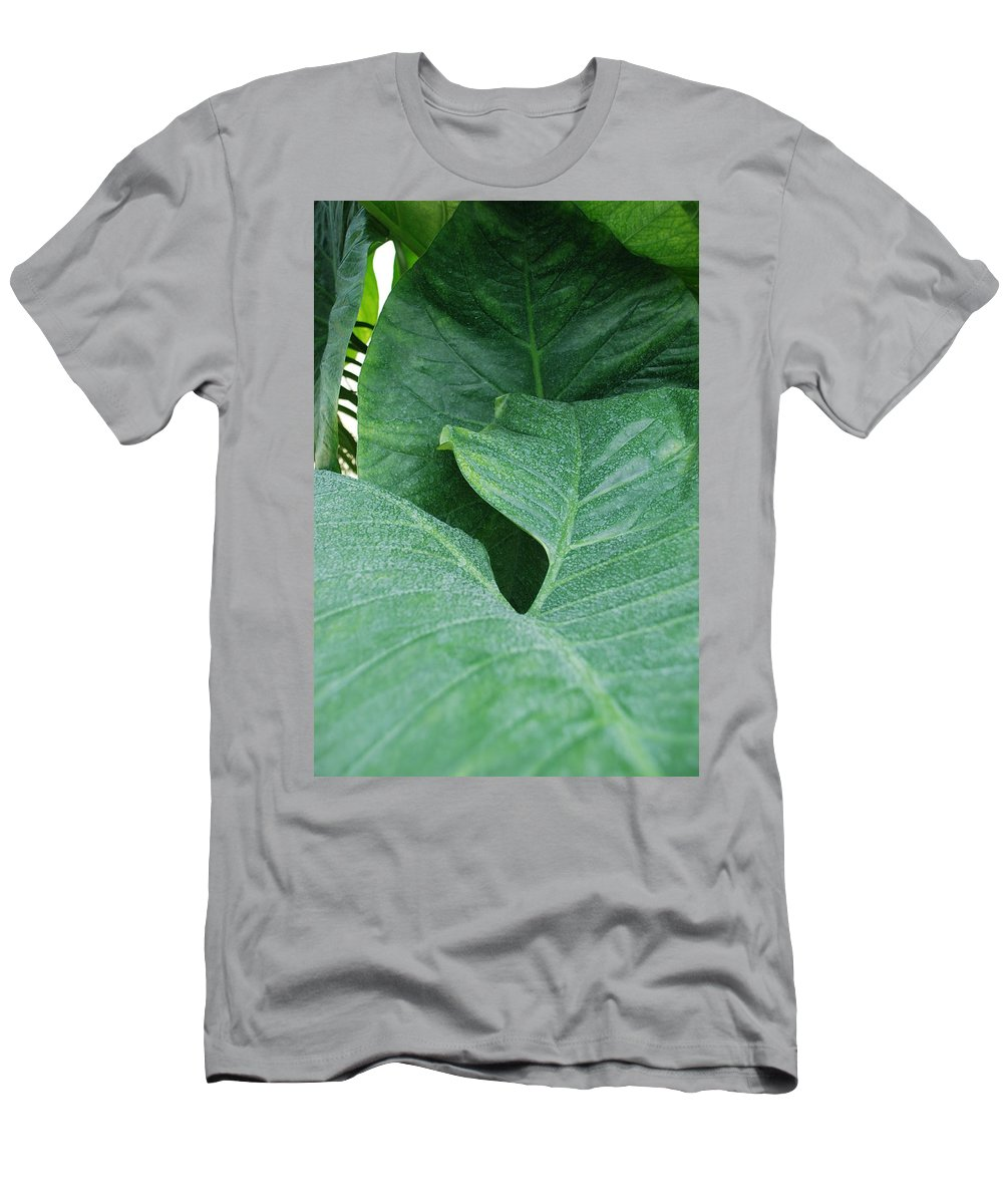 Macro Men's T-Shirt (Athletic Fit) featuring the photograph Banana Leaves by Rob Hans