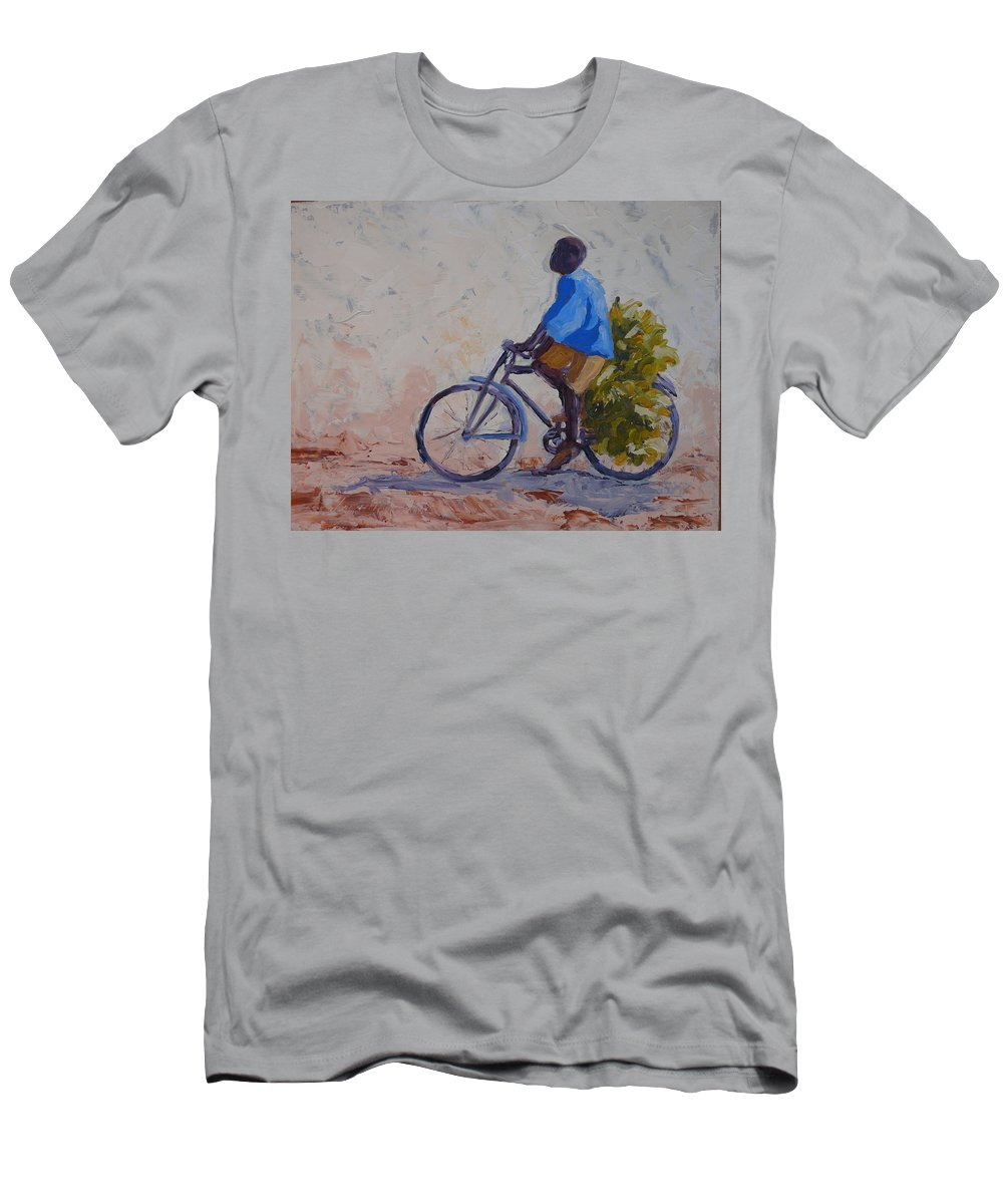 Bicycle Men's T-Shirt (Athletic Fit) featuring the painting Bananas by Yvonne Ankerman