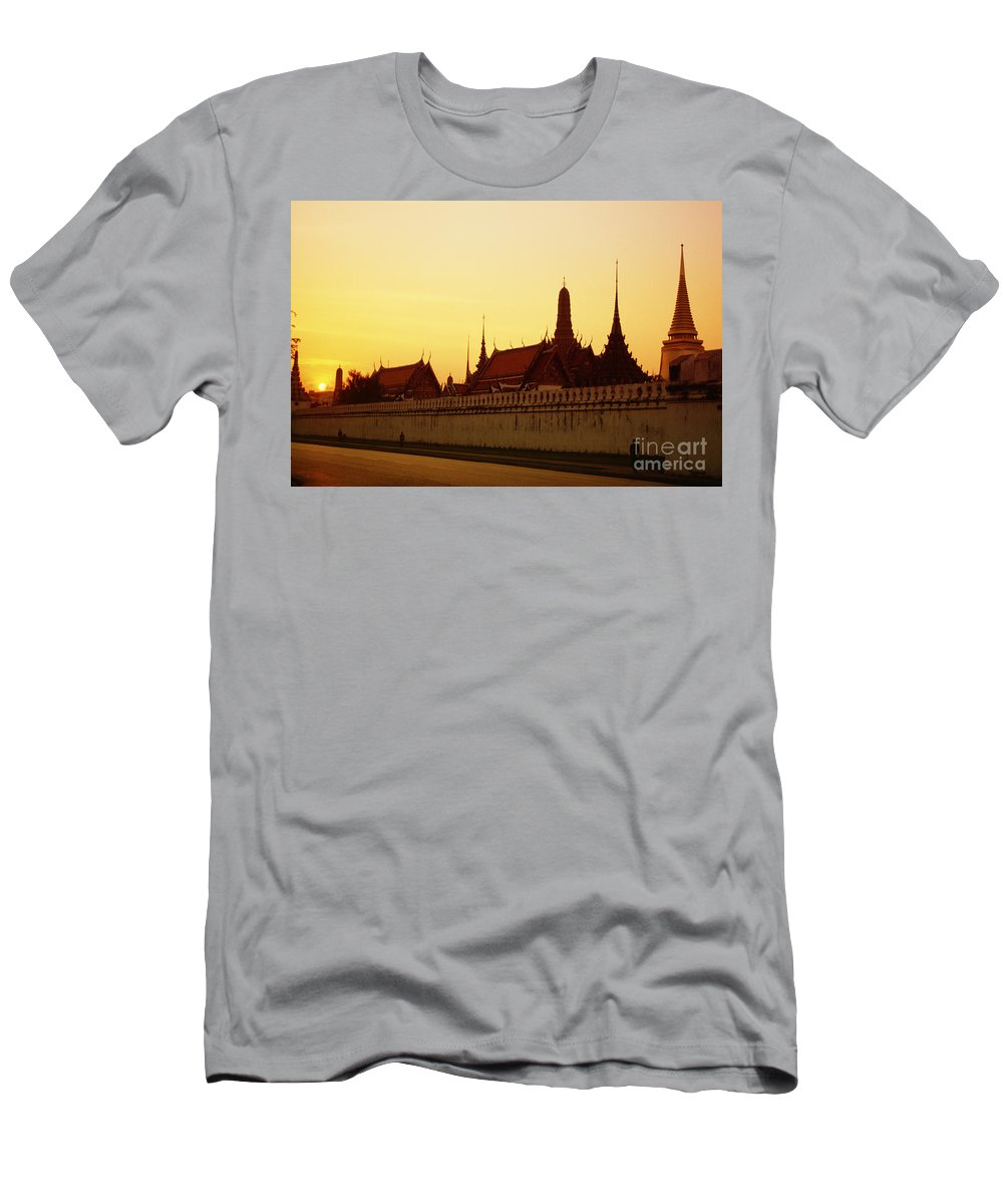 Ancient Men's T-Shirt (Athletic Fit) featuring the photograph Bangkok Royal Palace Complex by Rita Ariyoshi - Printscapes