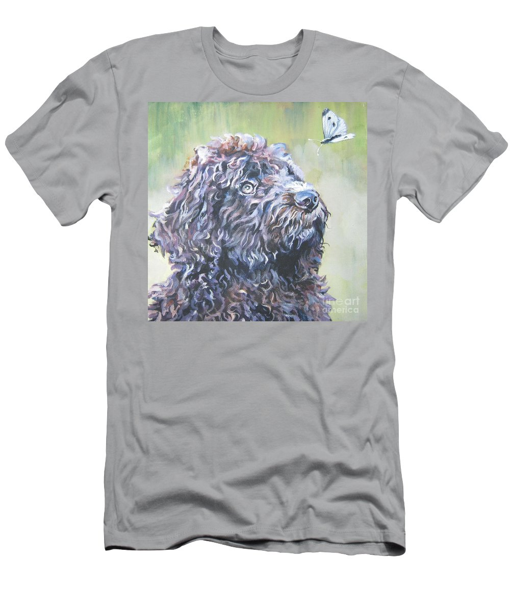 Barbet Men's T-Shirt (Athletic Fit) featuring the painting Barbet by Lee Ann Shepard