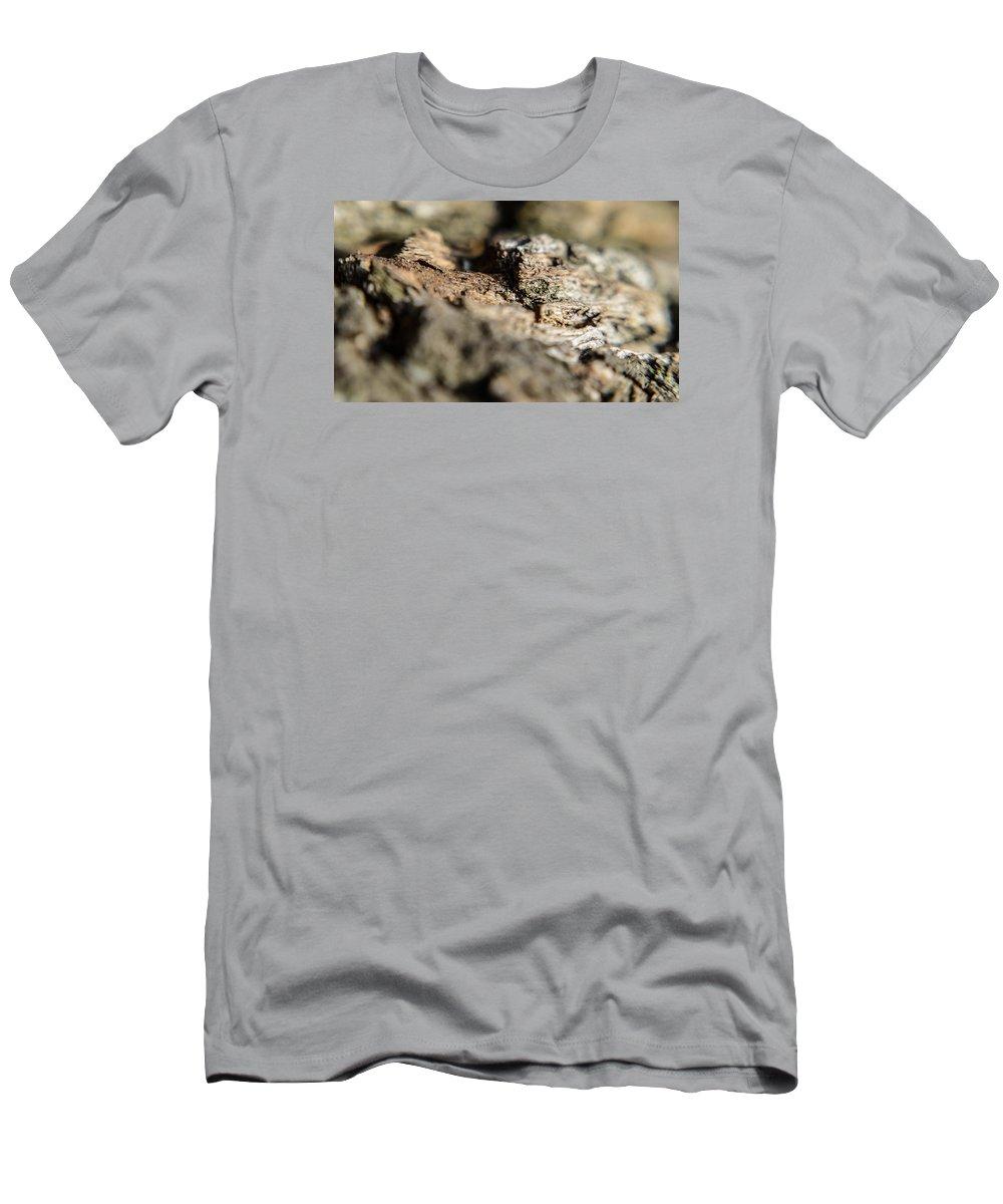 Tree Men's T-Shirt (Athletic Fit) featuring the photograph Bark by Miranda Strapason
