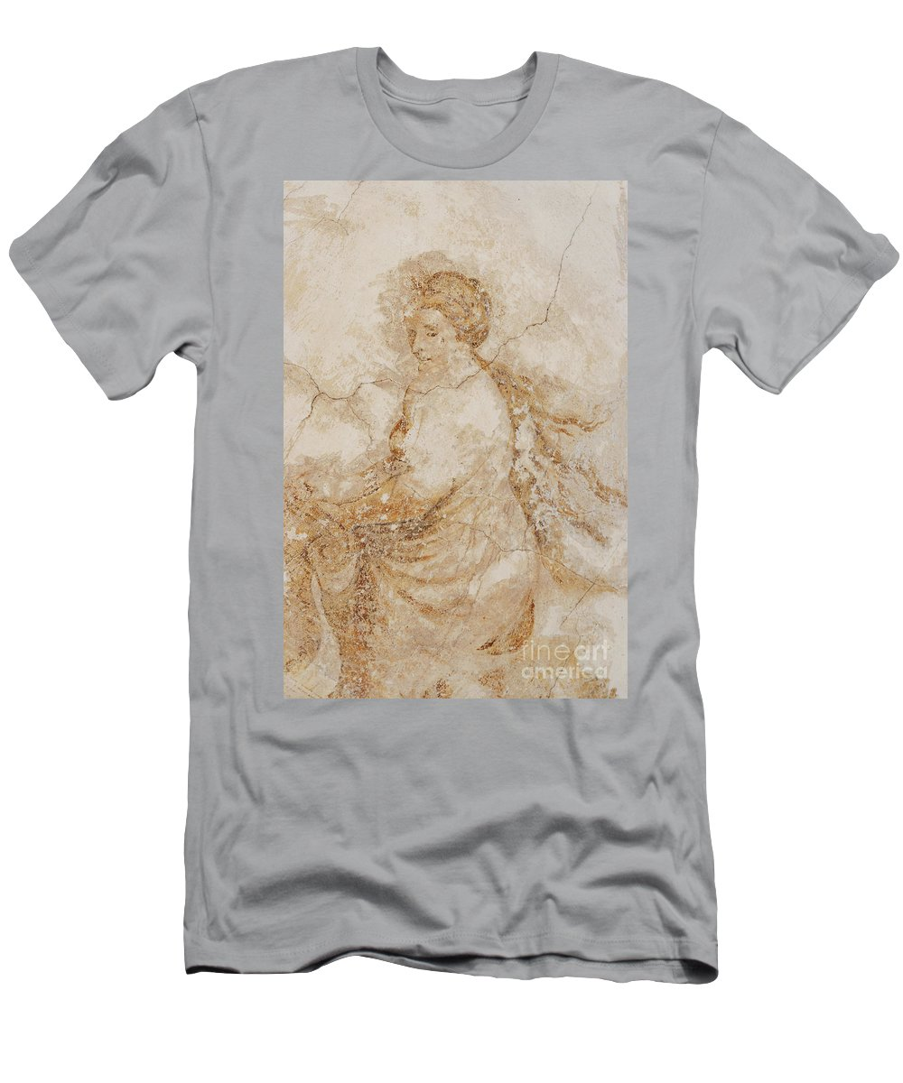 Mural Men's T-Shirt (Athletic Fit) featuring the photograph Baroque Mural Painting by Michal Boubin
