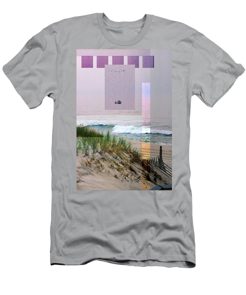 Landscape T-Shirt featuring the digital art Beach Collage 3 by Steve Karol