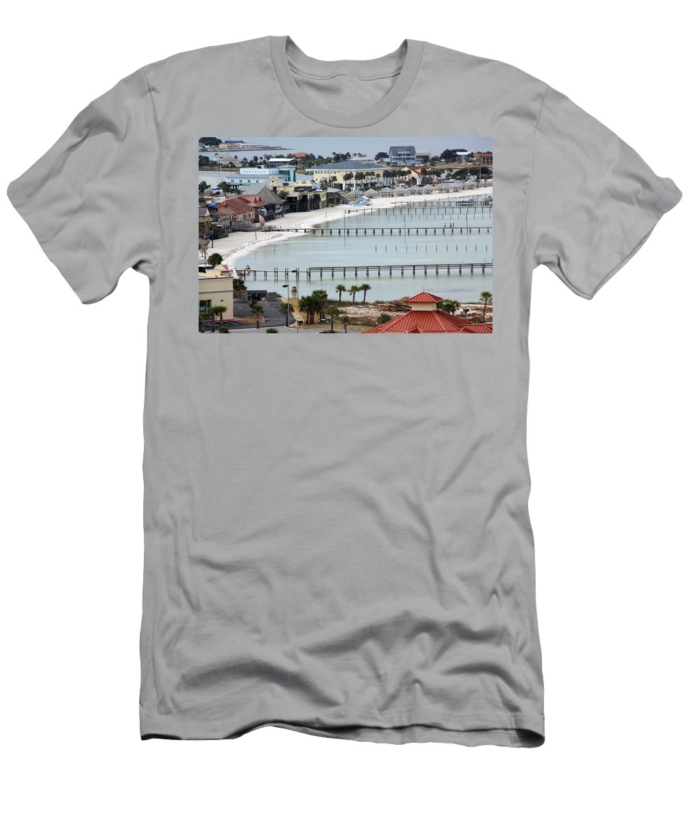 Beach Men's T-Shirt (Athletic Fit) featuring the photograph Beach Town by Tamivision