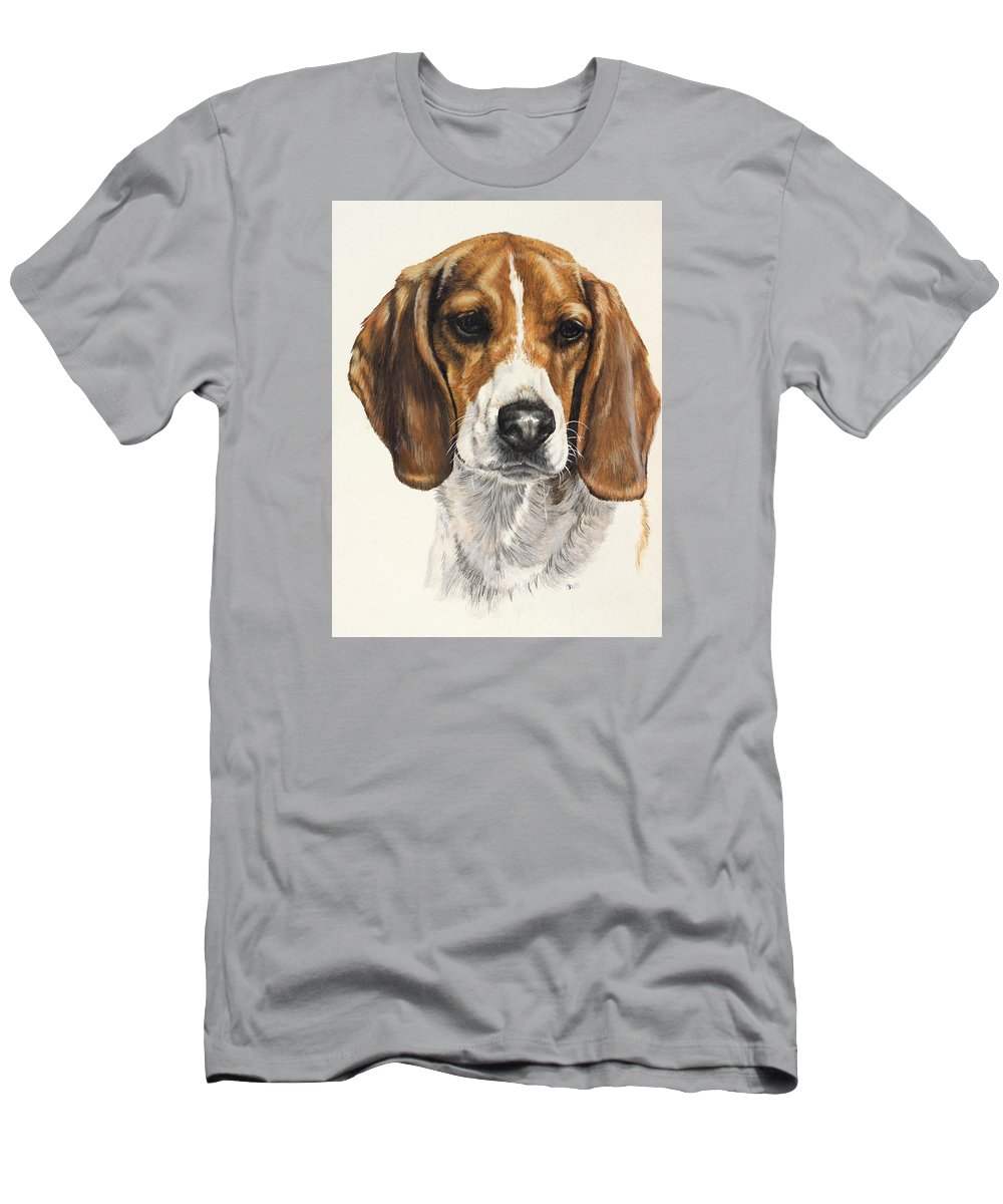 Dog Men's T-Shirt (Athletic Fit) featuring the painting Beagle by Barbara Keith