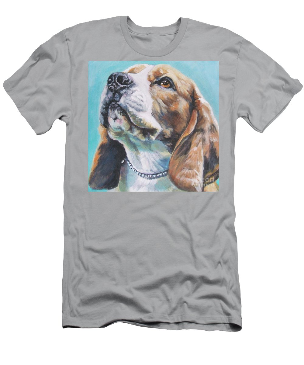 Dog Men's T-Shirt (Athletic Fit) featuring the painting Beagle by Lee Ann Shepard