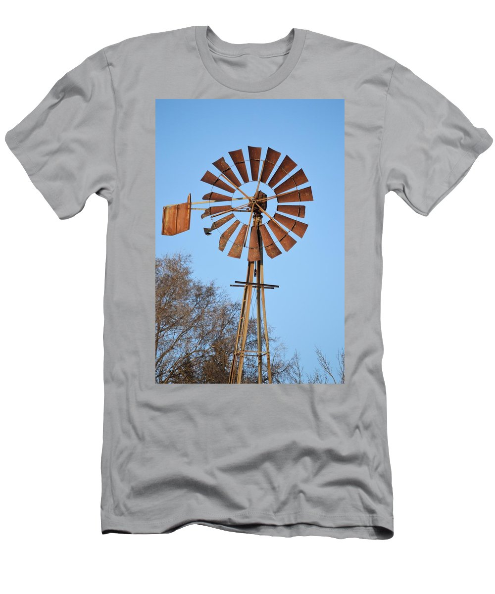 Agriculture Men's T-Shirt (Athletic Fit) featuring the photograph Beaten And Torn by Bonfire Photography