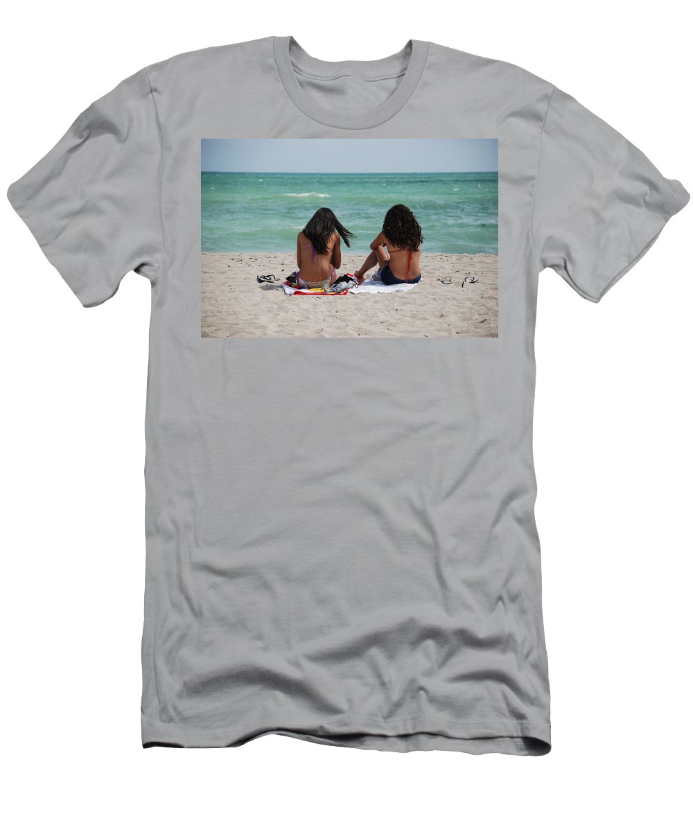 Women Men's T-Shirt (Athletic Fit) featuring the photograph Beauties On The Beach by Rob Hans