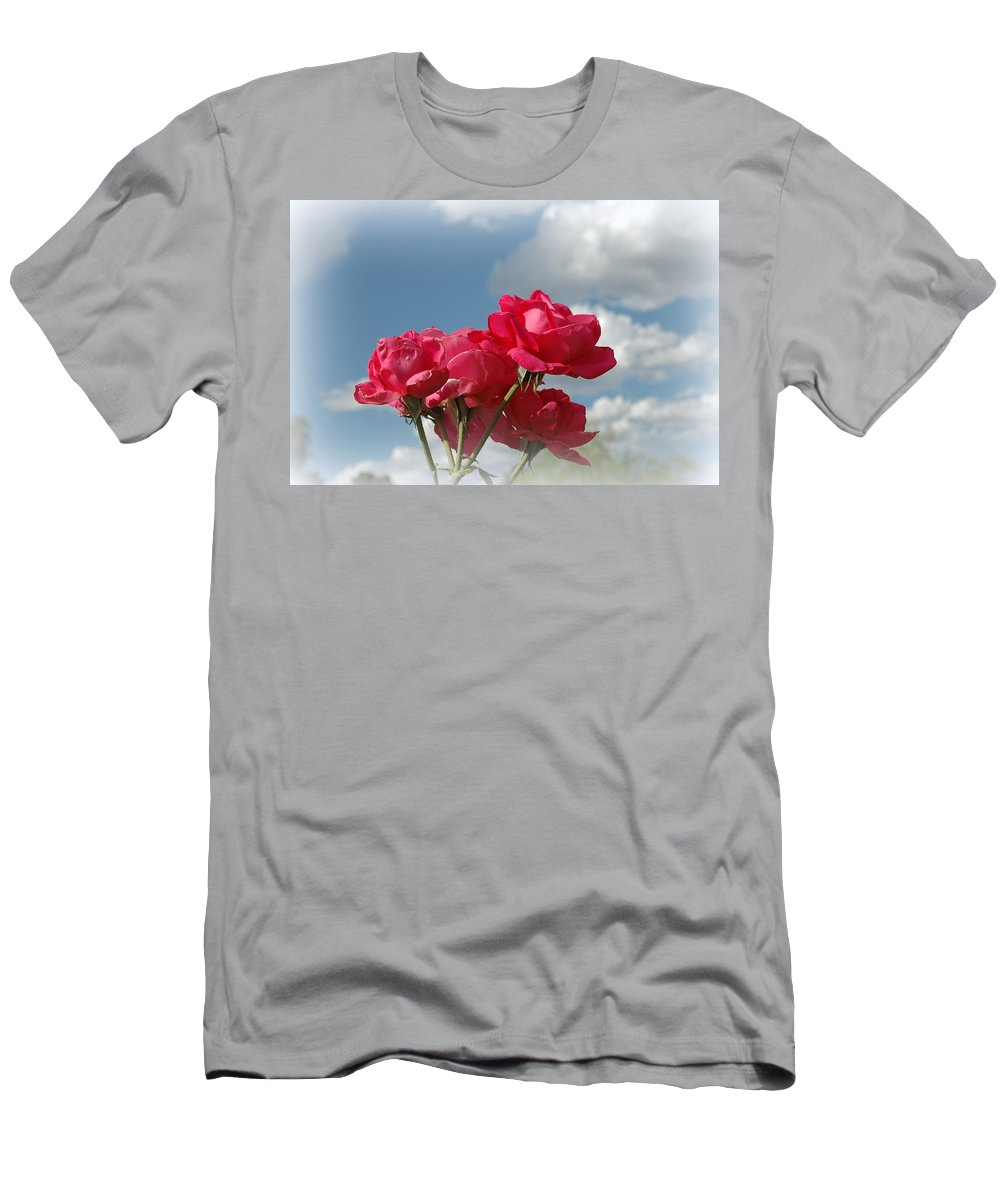 Cloud Men's T-Shirt (Athletic Fit) featuring the photograph Beautiful Bouquet Of Roses by Teresa Stallings