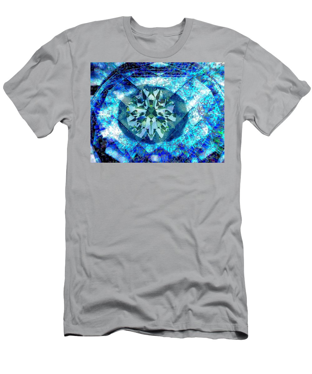 Abstract T-Shirt featuring the digital art Behold the Jeweled Eye by Seth Weaver