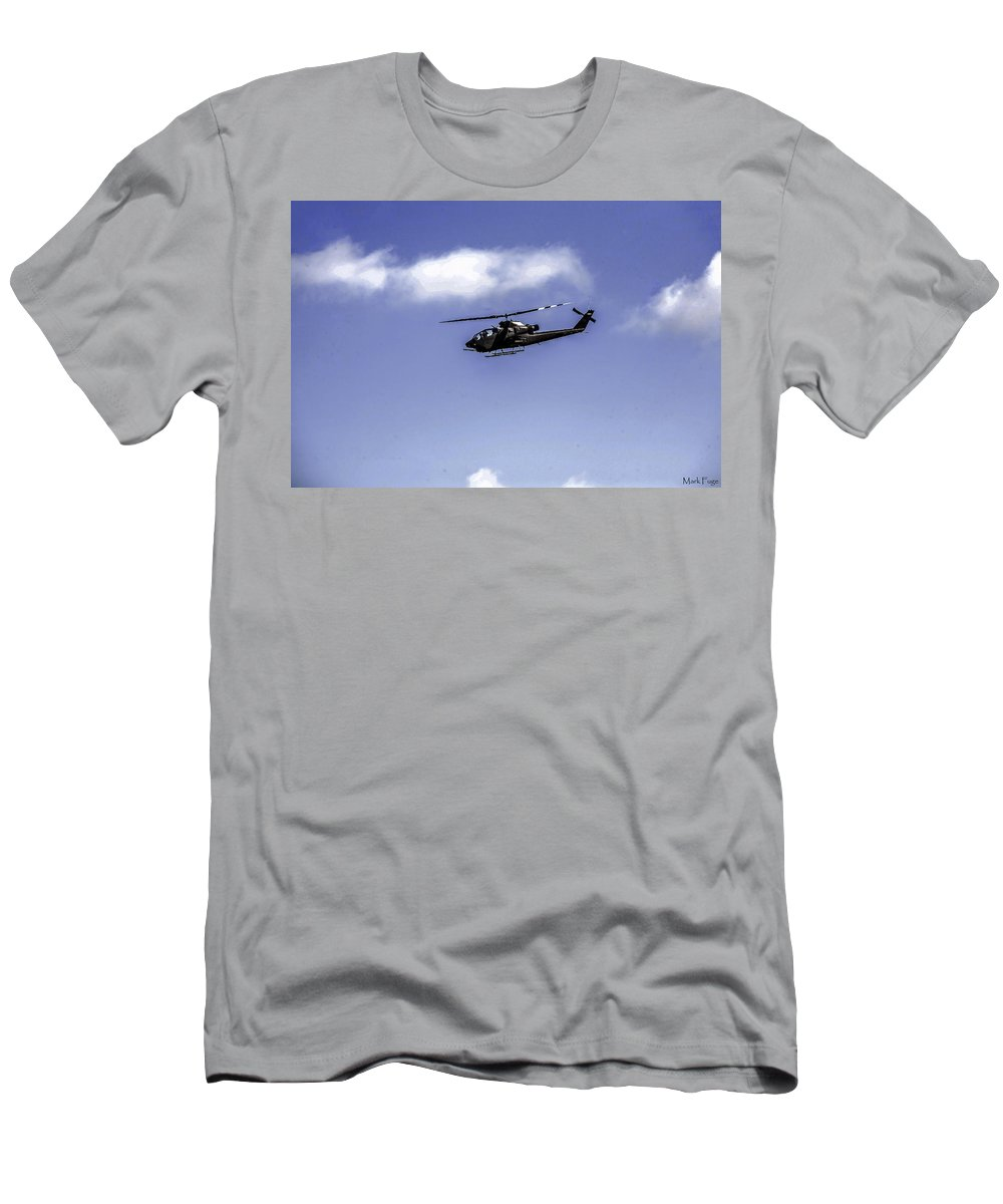 Florida Men's T-Shirt (Athletic Fit) featuring the photograph Bell Cobra Helicopter by Mark Fuge