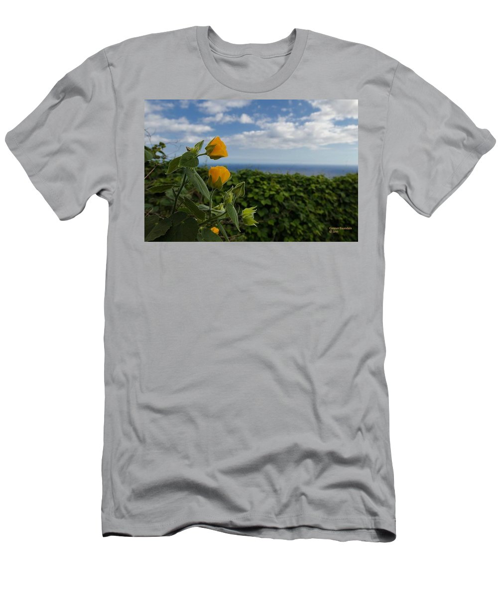 Flower Men's T-Shirt (Athletic Fit) featuring the photograph Bell Flower by Connor Saunders