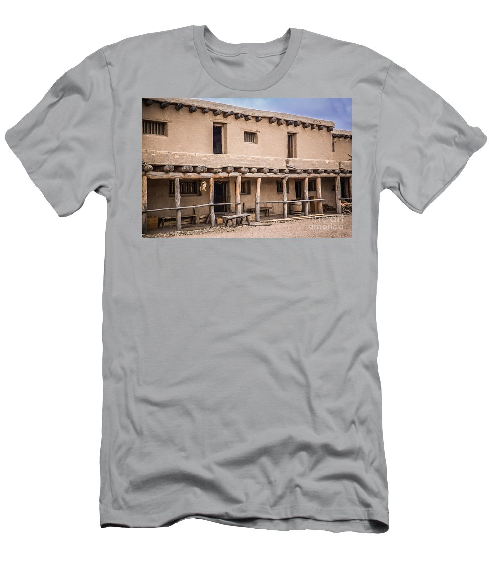 Bents Old Fort Men's T-Shirt (Athletic Fit) featuring the photograph Bent's Old Fort by Lynn Sprowl