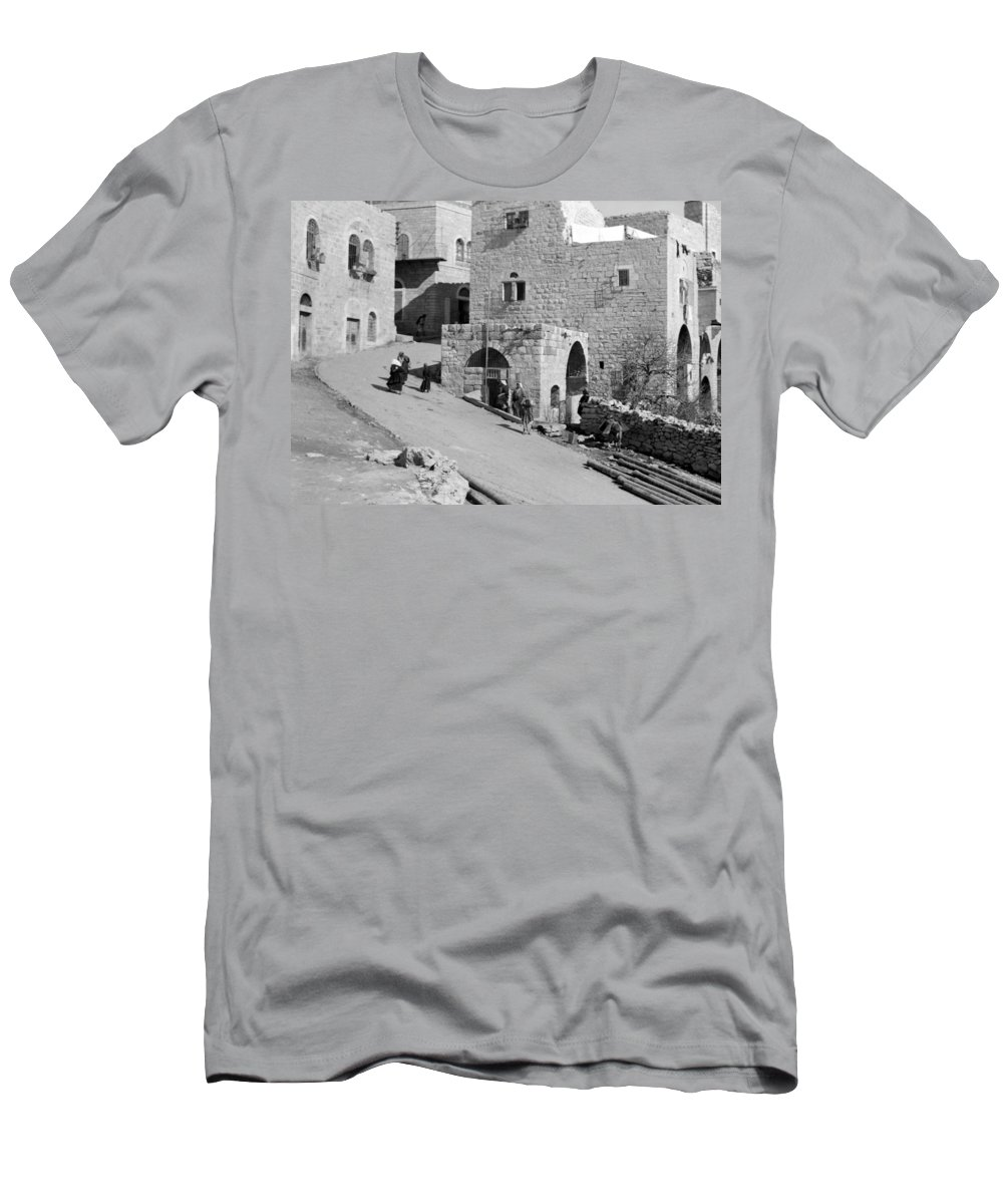 Home Men's T-Shirt (Athletic Fit) featuring the photograph Bethlehem Homes by Munir Alawi