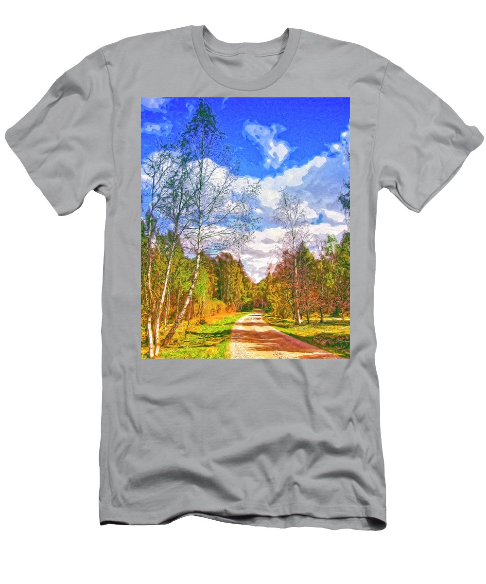 Big Sky Men's T-Shirt (Athletic Fit) featuring the painting Big Sky by Dominic Piperata