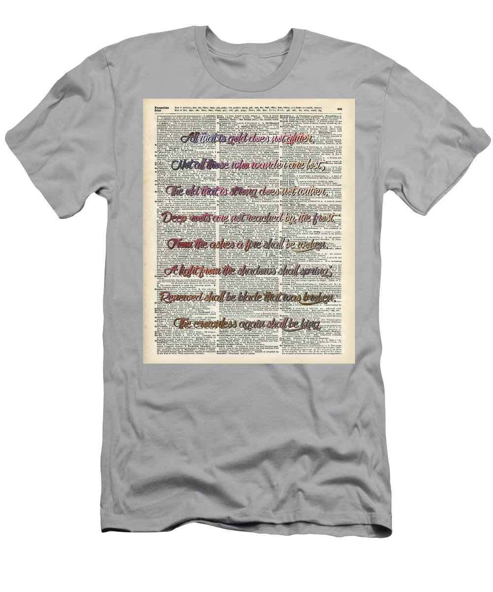 Bilbo Baggins Menu0027s T Shirt (Athletic Fit) Featuring The Drawing Bilbo  Baggins Quote