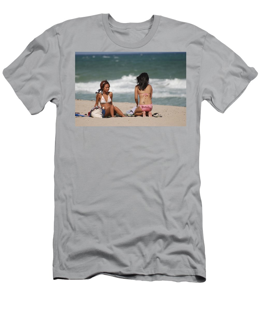 Sea Scape Men's T-Shirt (Athletic Fit) featuring the photograph Billabong Girls by Rob Hans