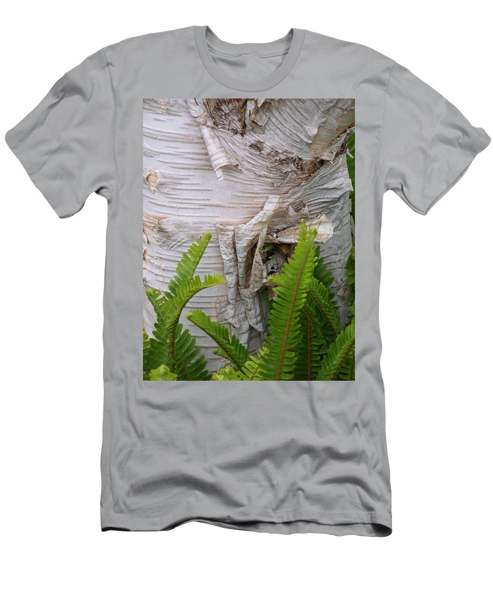 Tree Men's T-Shirt (Athletic Fit) featuring the photograph Birch Fern by Gale Cochran-Smith