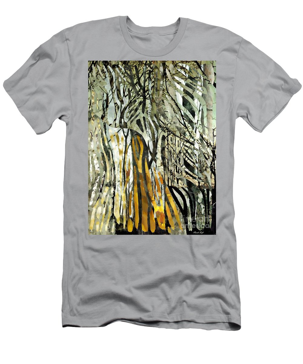 Birch Trees Men's T-Shirt (Athletic Fit) featuring the mixed media Birch Forest by Sarah Loft