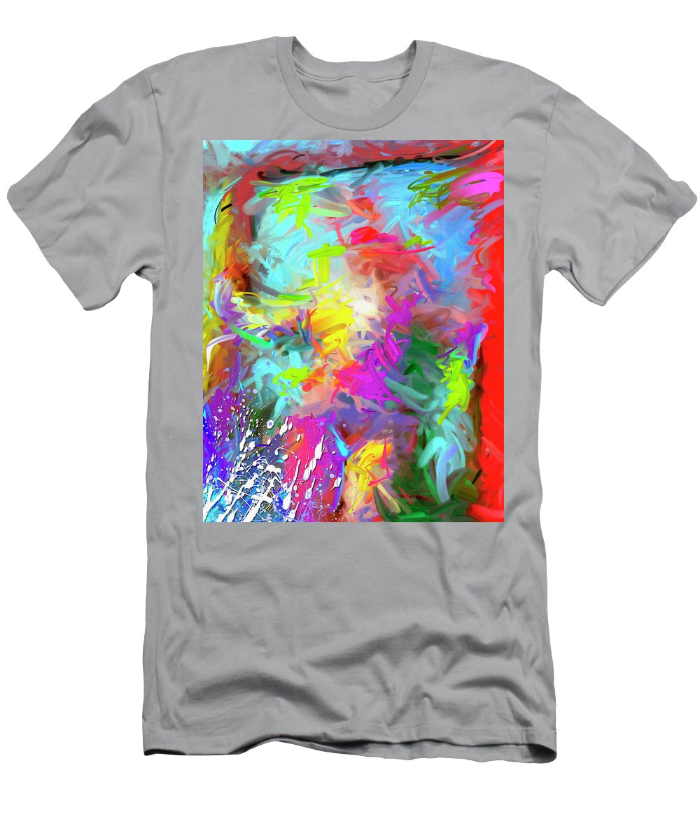 Abstract Men's T-Shirt (Athletic Fit) featuring the painting Birth Of Venus by Snake Jagger