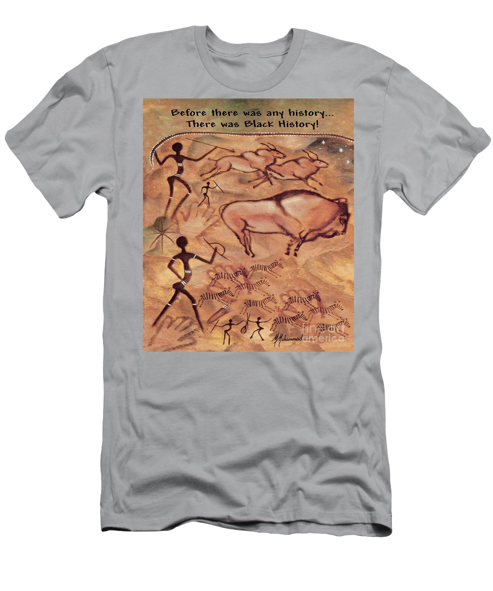 History T-Shirt featuring the painting Black History by Marcella Muhammad