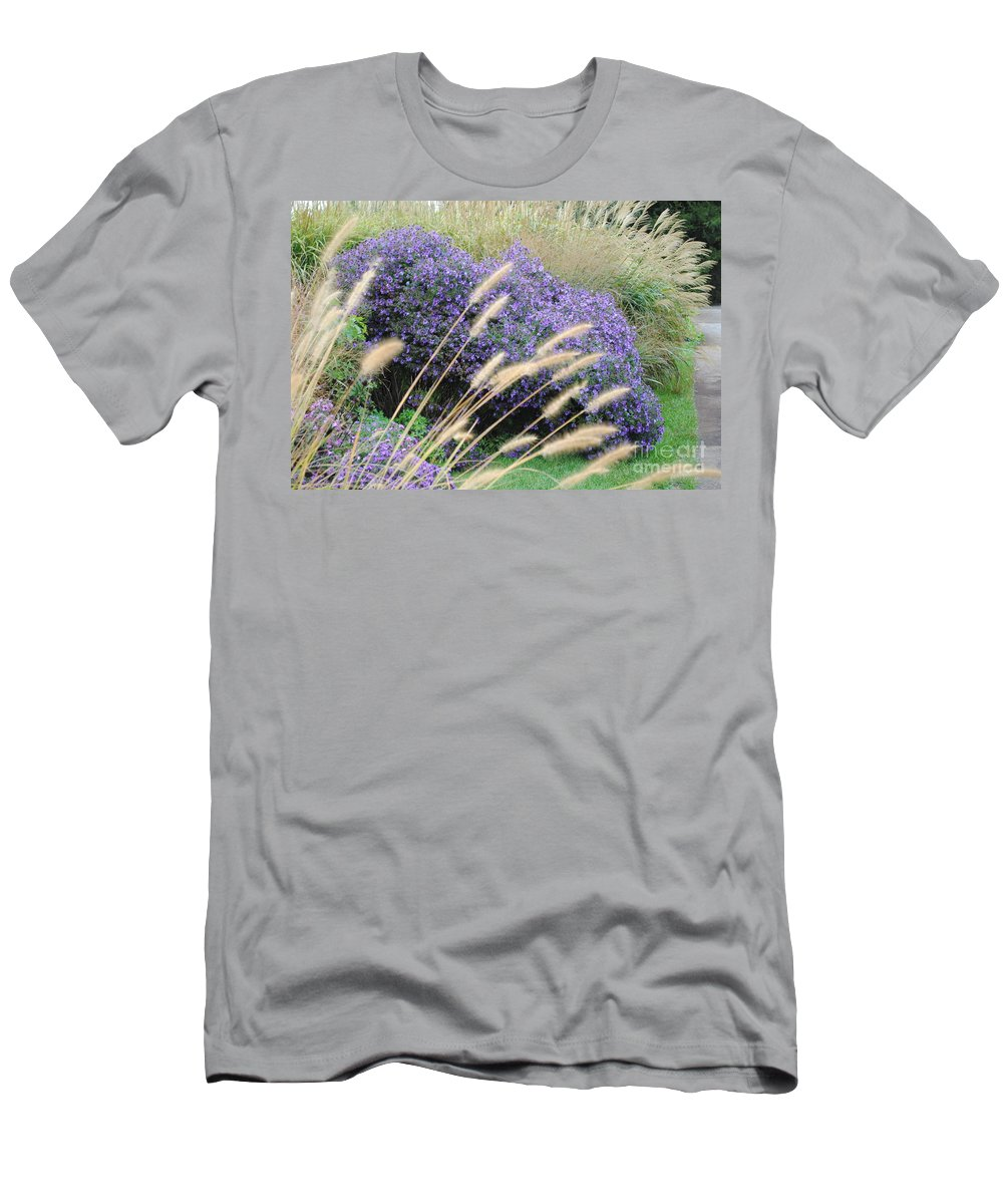 Purple Men's T-Shirt (Athletic Fit) featuring the photograph Blaisdell Floral by Jost Houk
