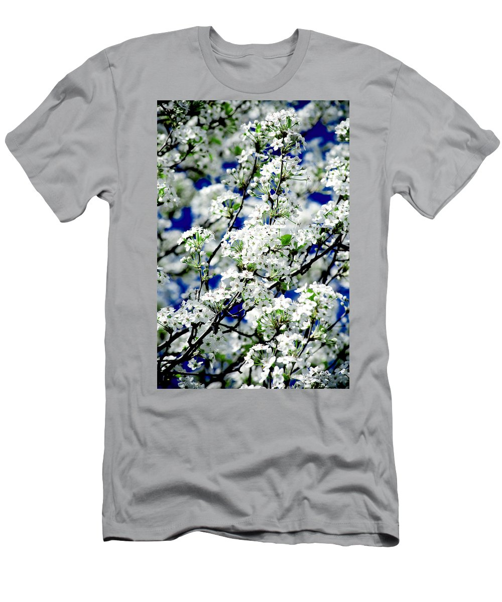 Flowers Men's T-Shirt (Athletic Fit) featuring the photograph Blossoms by Greg Fortier