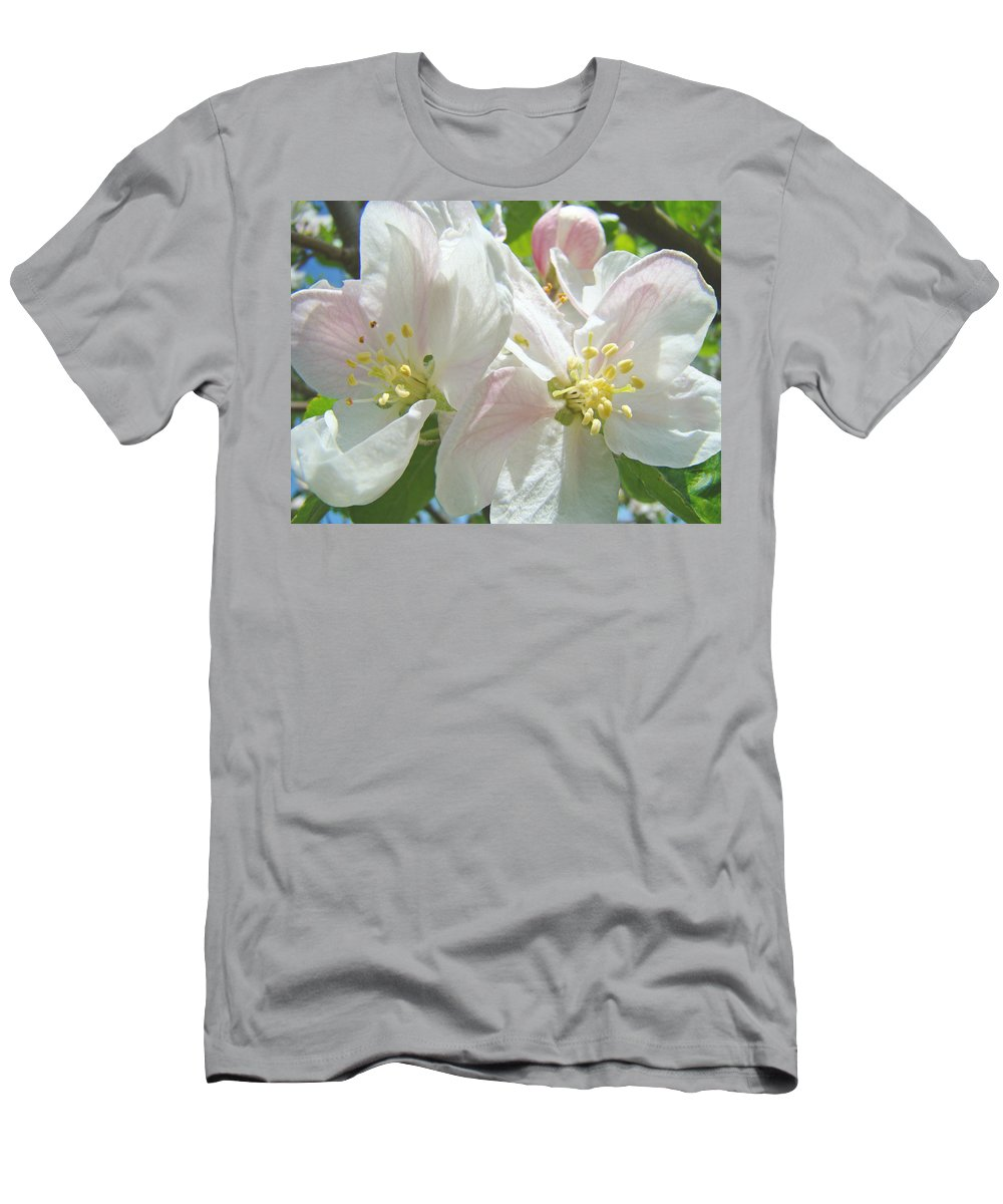 Blossom Men's T-Shirt (Athletic Fit) featuring the photograph Blossoms Spring Apple Tree Art Prints Baslee Troutman by Baslee Troutman