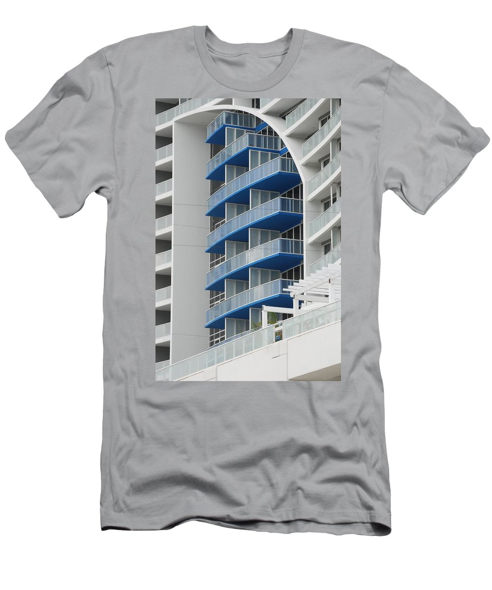 Architecture Men's T-Shirt (Athletic Fit) featuring the photograph Blue Bayu by Rob Hans