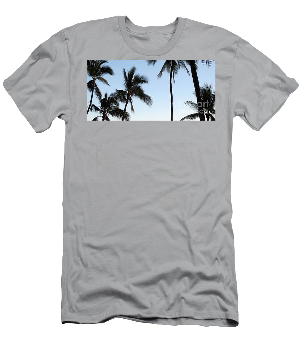 Palm Trees Men's T-Shirt (Athletic Fit) featuring the photograph Blue Hawaiian by Stephanie Bland