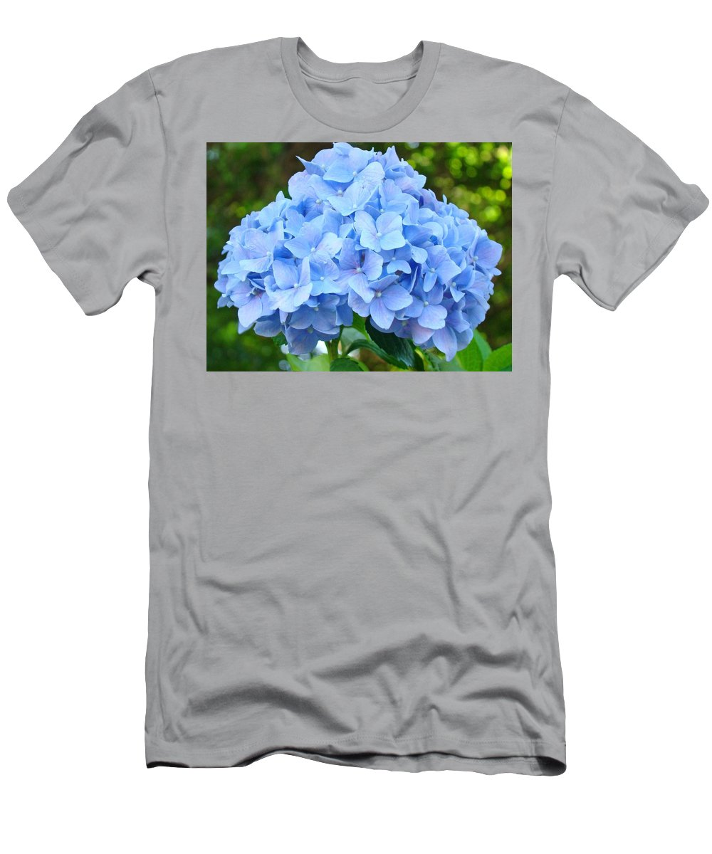 Blue T-Shirt featuring the photograph Blue Hydrangea Floral art Print Hydrangeas Flowers Baslee Troutman by Patti Baslee