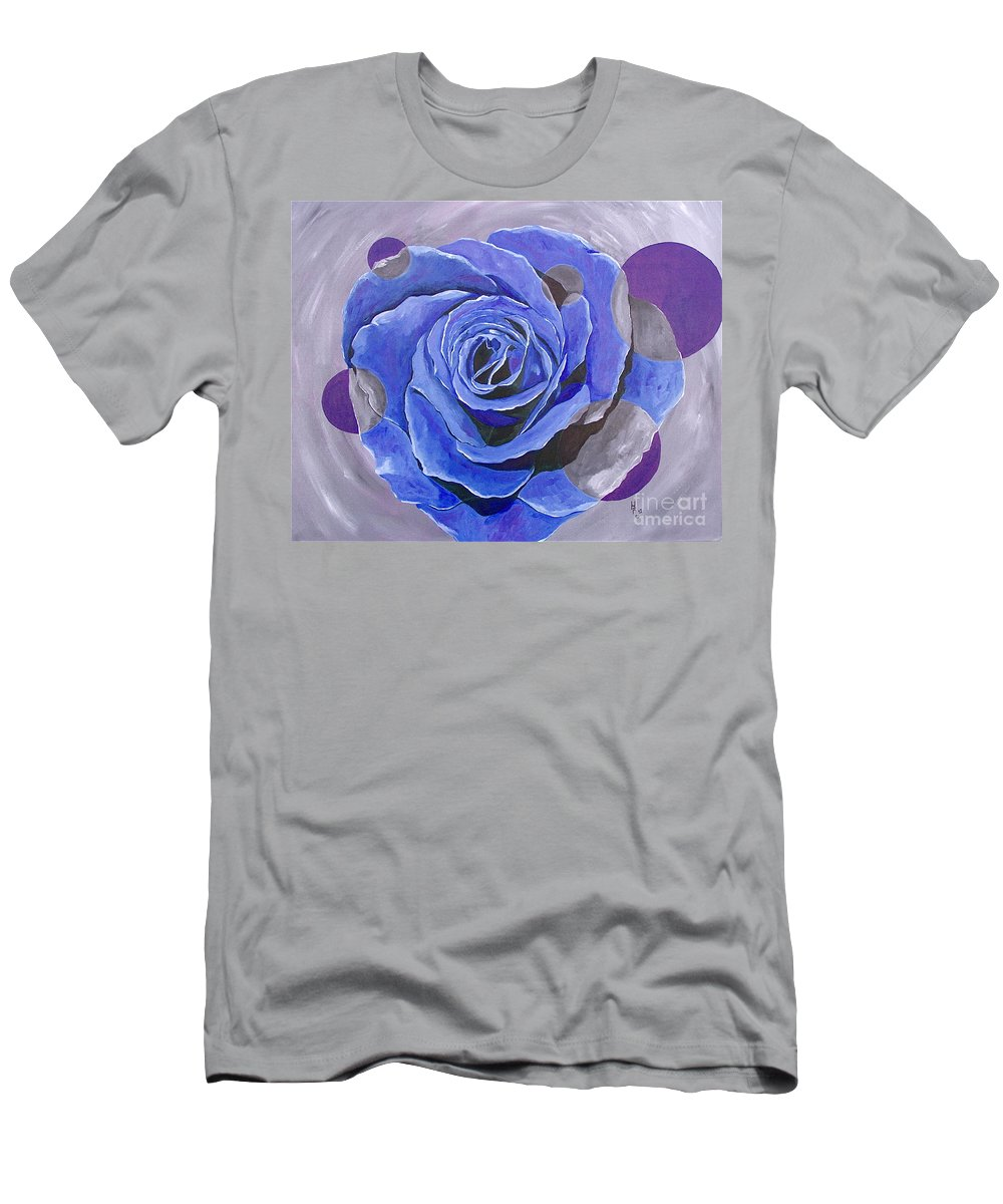 Acrylic Men's T-Shirt (Athletic Fit) featuring the painting Blue Ice by Herschel Fall