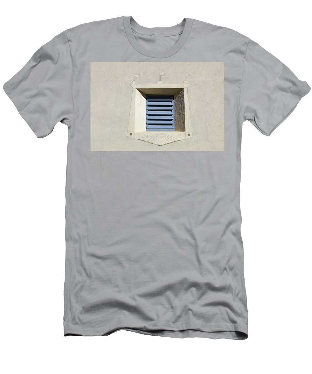 Blue Men's T-Shirt (Athletic Fit) featuring the photograph Blue Louvers 2 by Tom Reynen