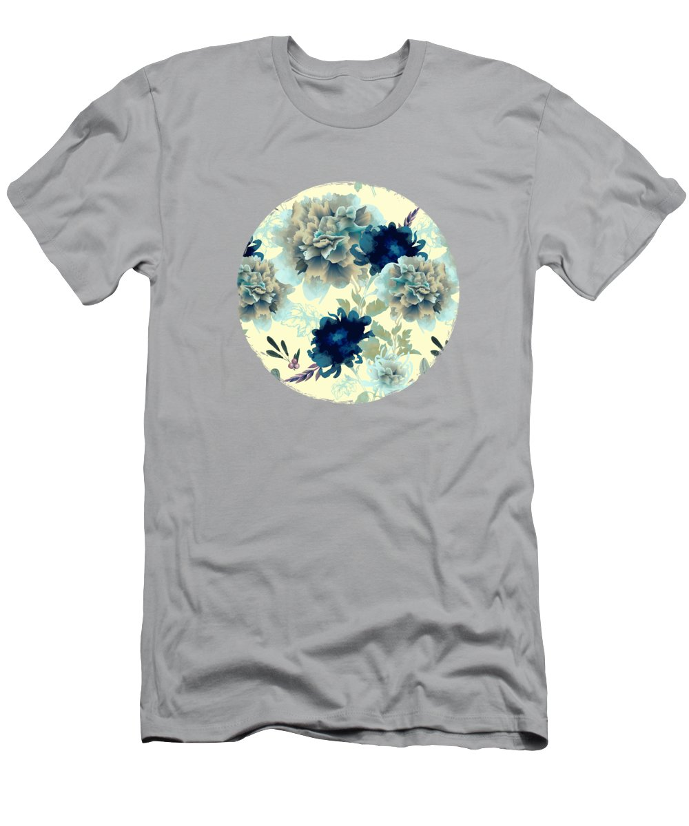 Mum Men's T-Shirt (Athletic Fit) featuring the digital art Blue Mum by Spacefrog Designs