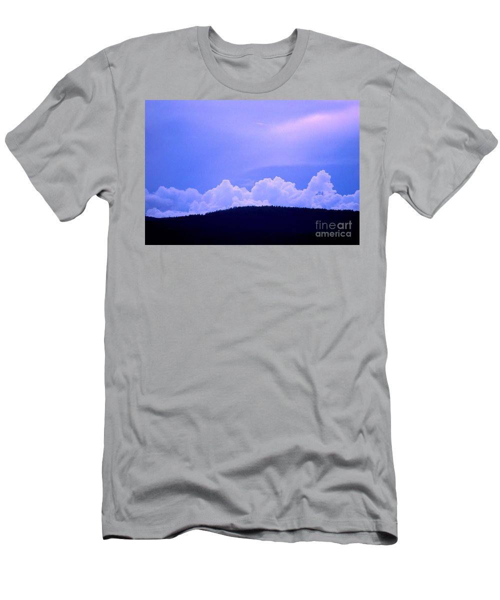 Blue Men's T-Shirt (Athletic Fit) featuring the photograph Blue On Blue by Jerry McElroy