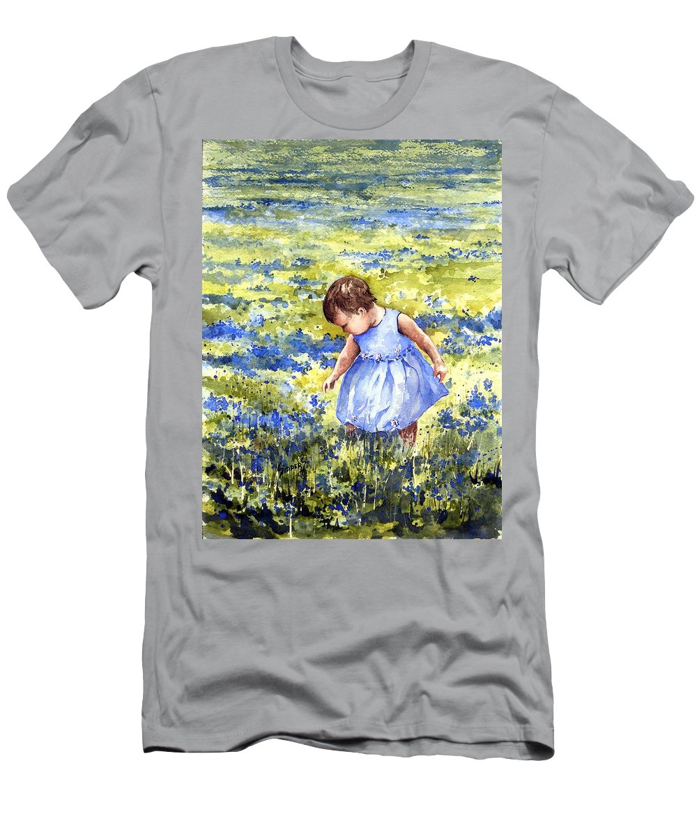 Blue Men's T-Shirt (Athletic Fit) featuring the painting Blue by Sam Sidders