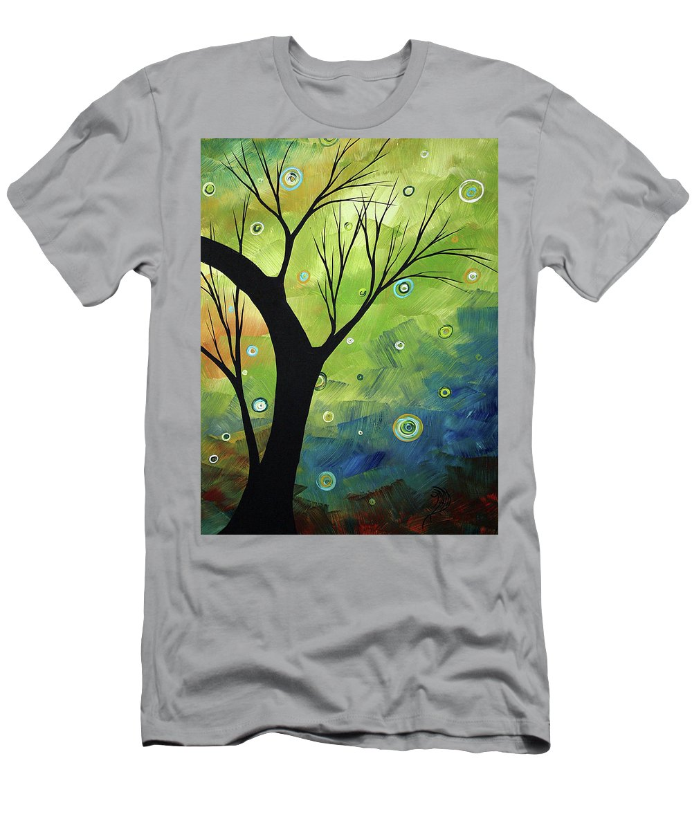 Art Men's T-Shirt (Athletic Fit) featuring the painting Blue Sapphire 3 By Madart by Megan Duncanson