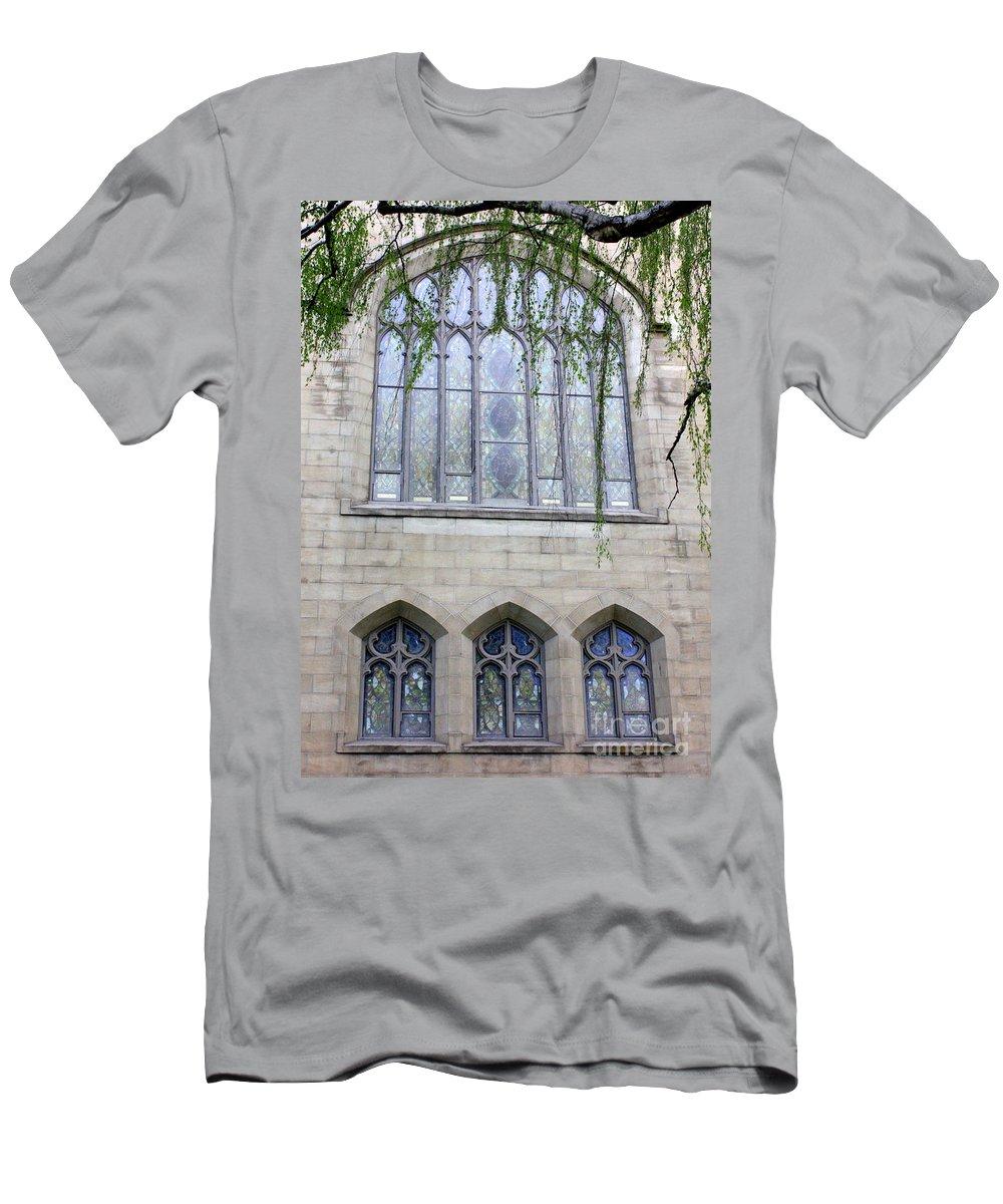 Windows Men's T-Shirt (Athletic Fit) featuring the photograph Blue Windows by Carol Groenen