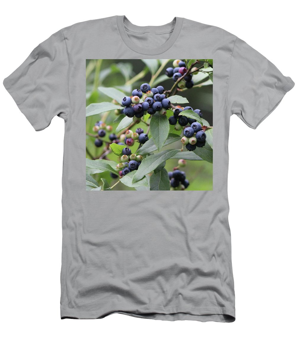 Blueberry Men's T-Shirt (Athletic Fit) featuring the photograph Blueberry Bounty by Walter Stankiewicz