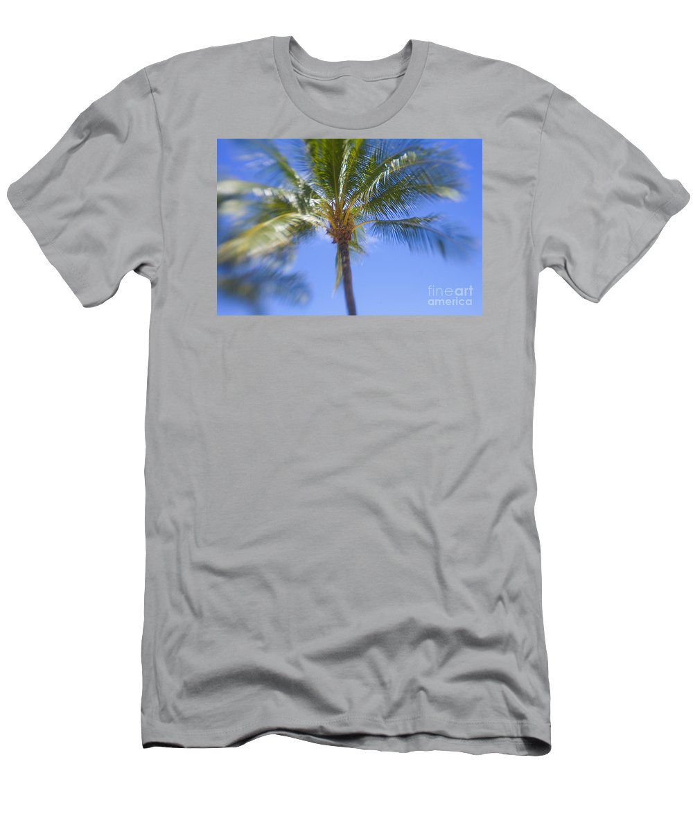 Blue Men's T-Shirt (Athletic Fit) featuring the photograph Blurry Palms by Ron Dahlquist - Printscapes