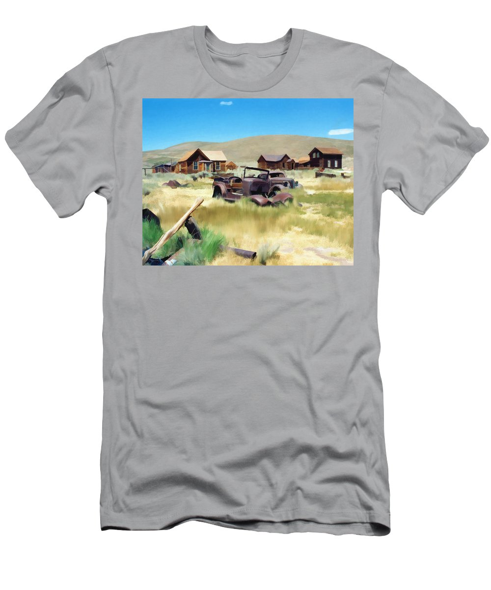Bodie Men's T-Shirt (Athletic Fit) featuring the photograph Bodie by Kurt Van Wagner