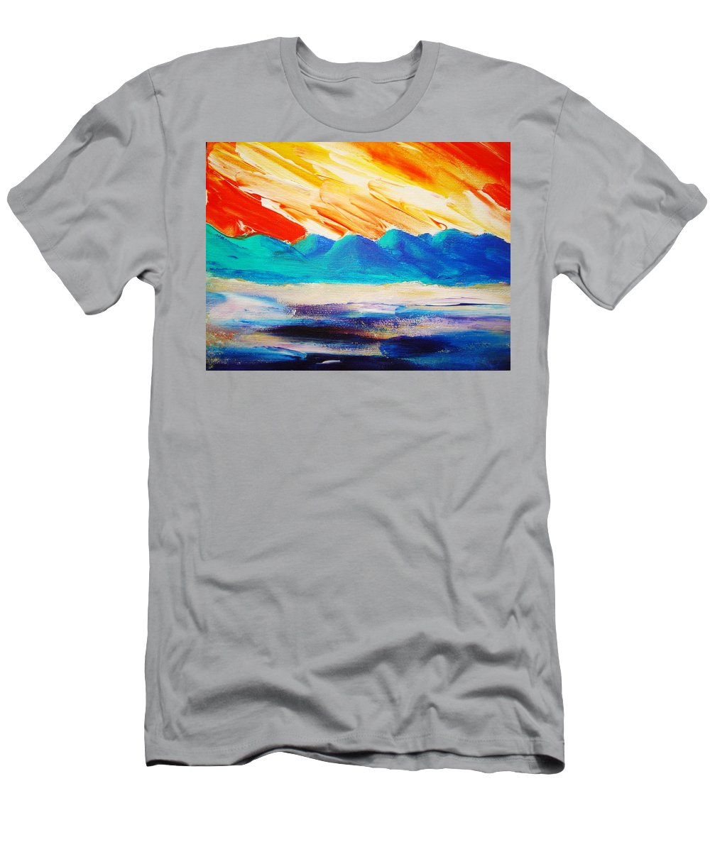 Bright Men's T-Shirt (Athletic Fit) featuring the painting Bold Day by Melinda Etzold