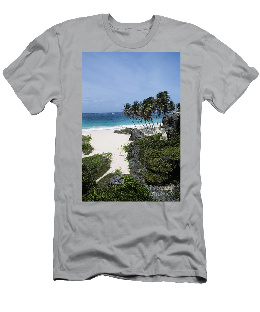 Barbados Men's T-Shirt (Athletic Fit) featuring the photograph Bottom Bay by Bill Bachmann - Printscapes