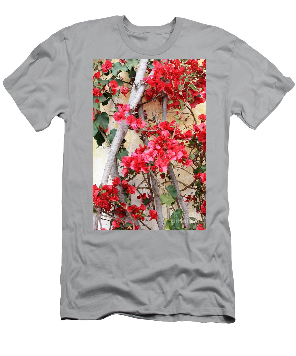 Bougainvilla Men's T-Shirt (Athletic Fit) featuring the photograph Bougainvillea by Carol Groenen