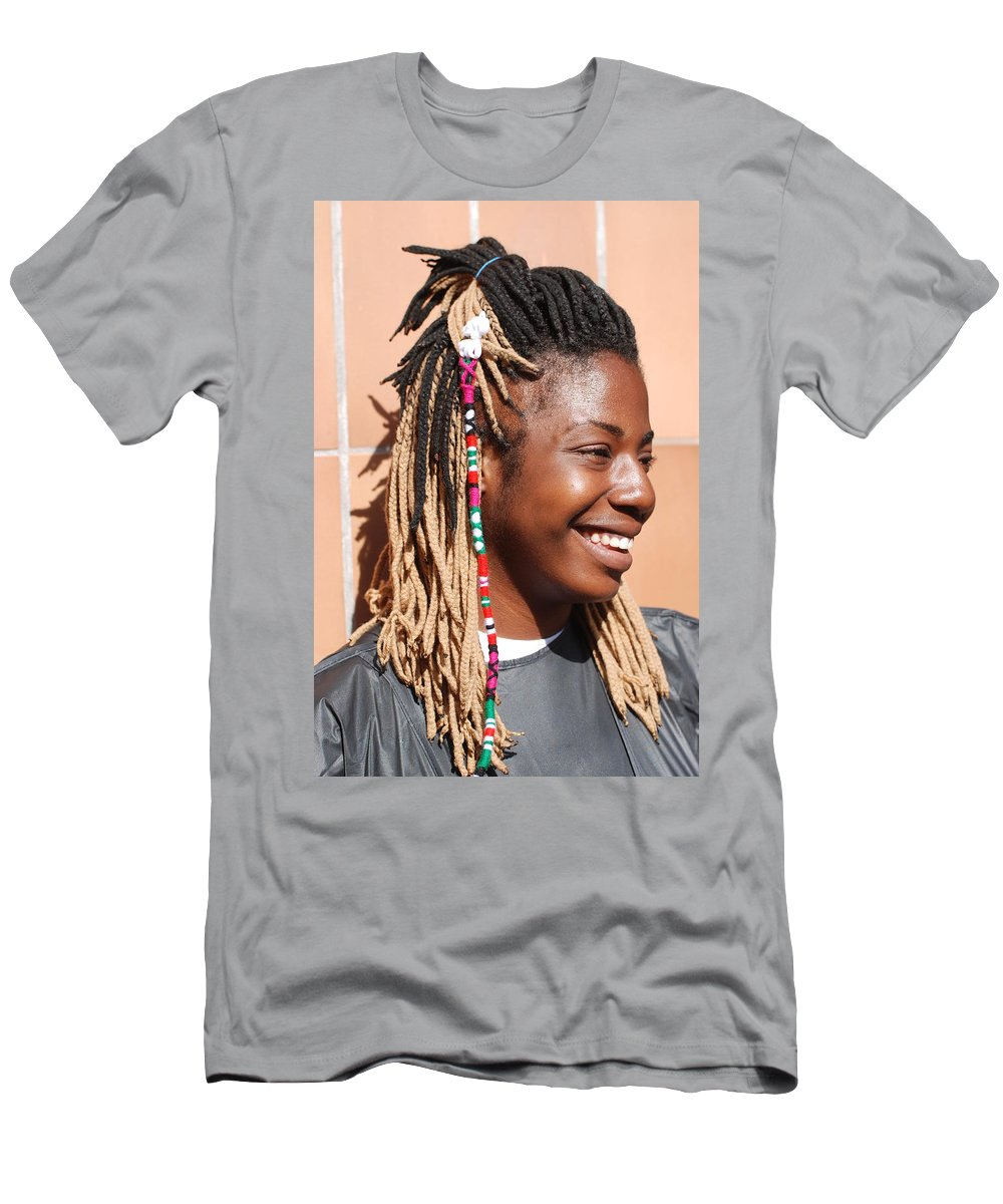 People Men's T-Shirt (Athletic Fit) featuring the photograph Braided Lady by Rob Hans