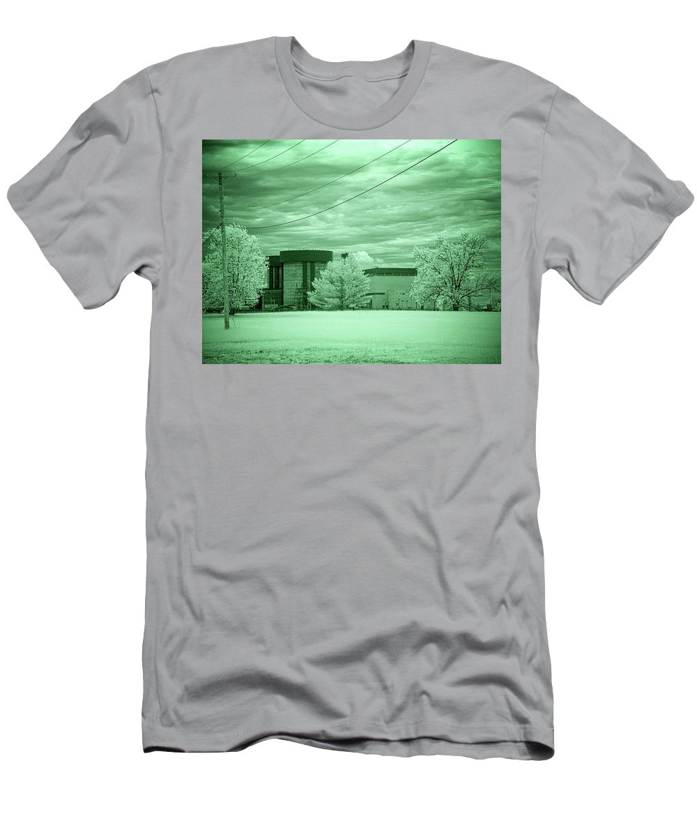 Braidwood Men's T-Shirt (Athletic Fit) featuring the photograph Braidwood Reactor 2 by Fred Hahn