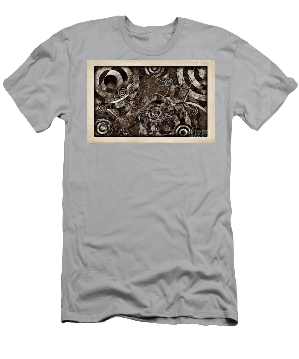 Abstraction Men's T-Shirt (Athletic Fit) featuring the digital art Brake 3645 by Marek Lutek