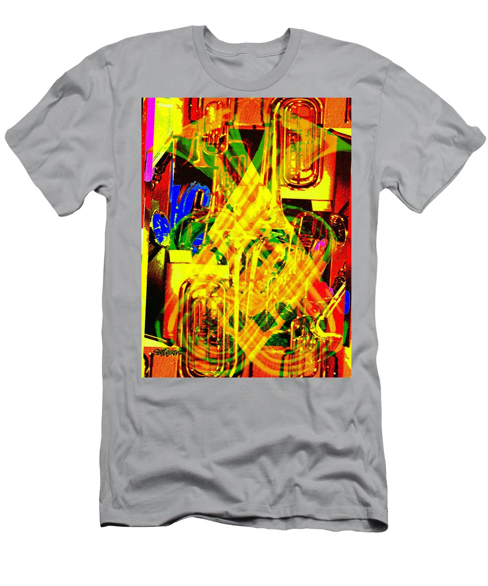 Festive T-Shirt featuring the digital art Brass Attack by Seth Weaver