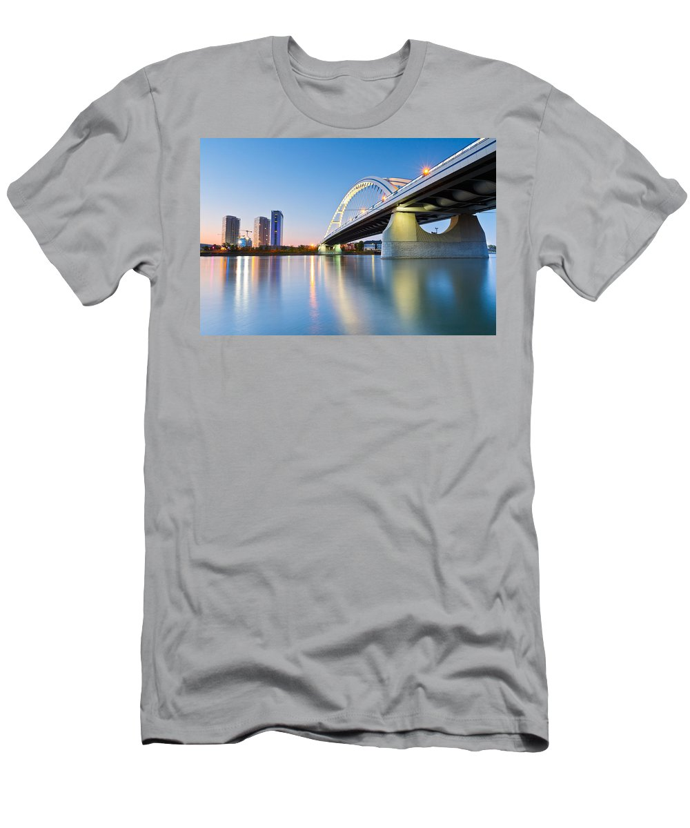 Slovakia Men's T-Shirt (Athletic Fit) featuring the photograph bratislava 'XL by Milan Gonda