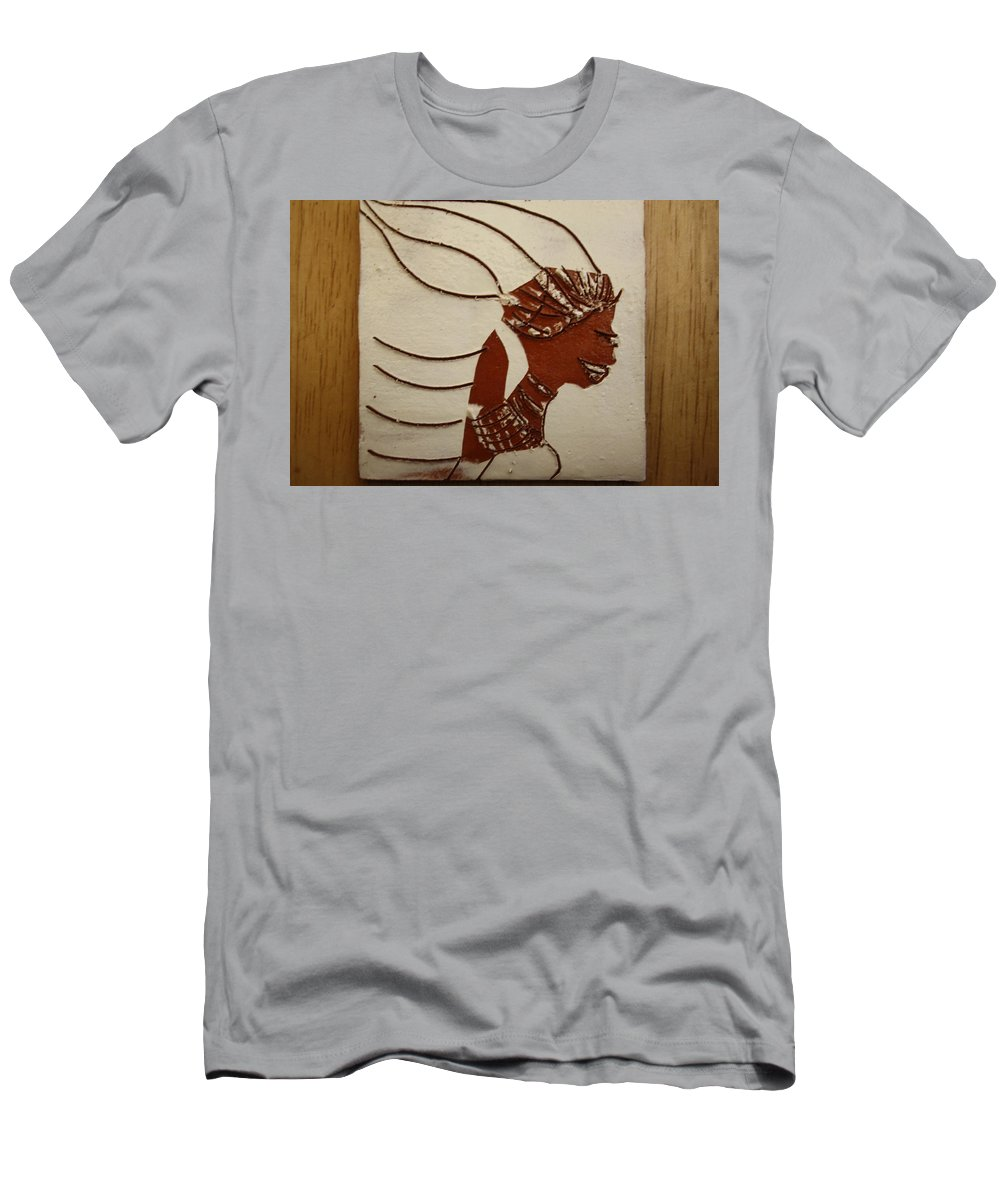 Jesus Men's T-Shirt (Athletic Fit) featuring the ceramic art Bride 12 - Tile by Gloria Ssali